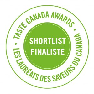 a round award seal from the Taste Canada Awards.