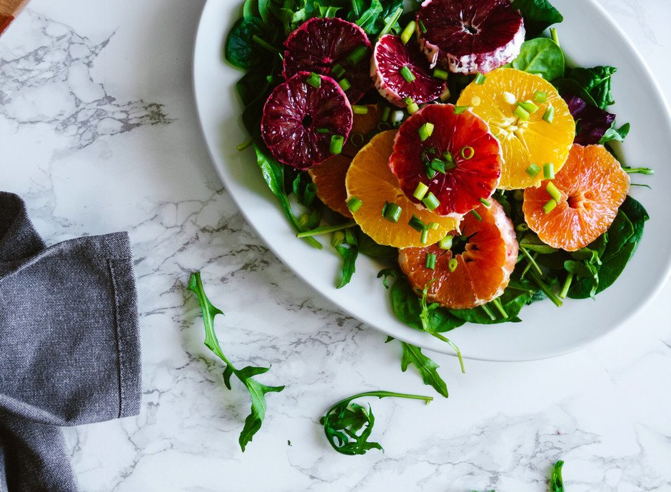 Citrus and Greens w Miso Ginger Dressing