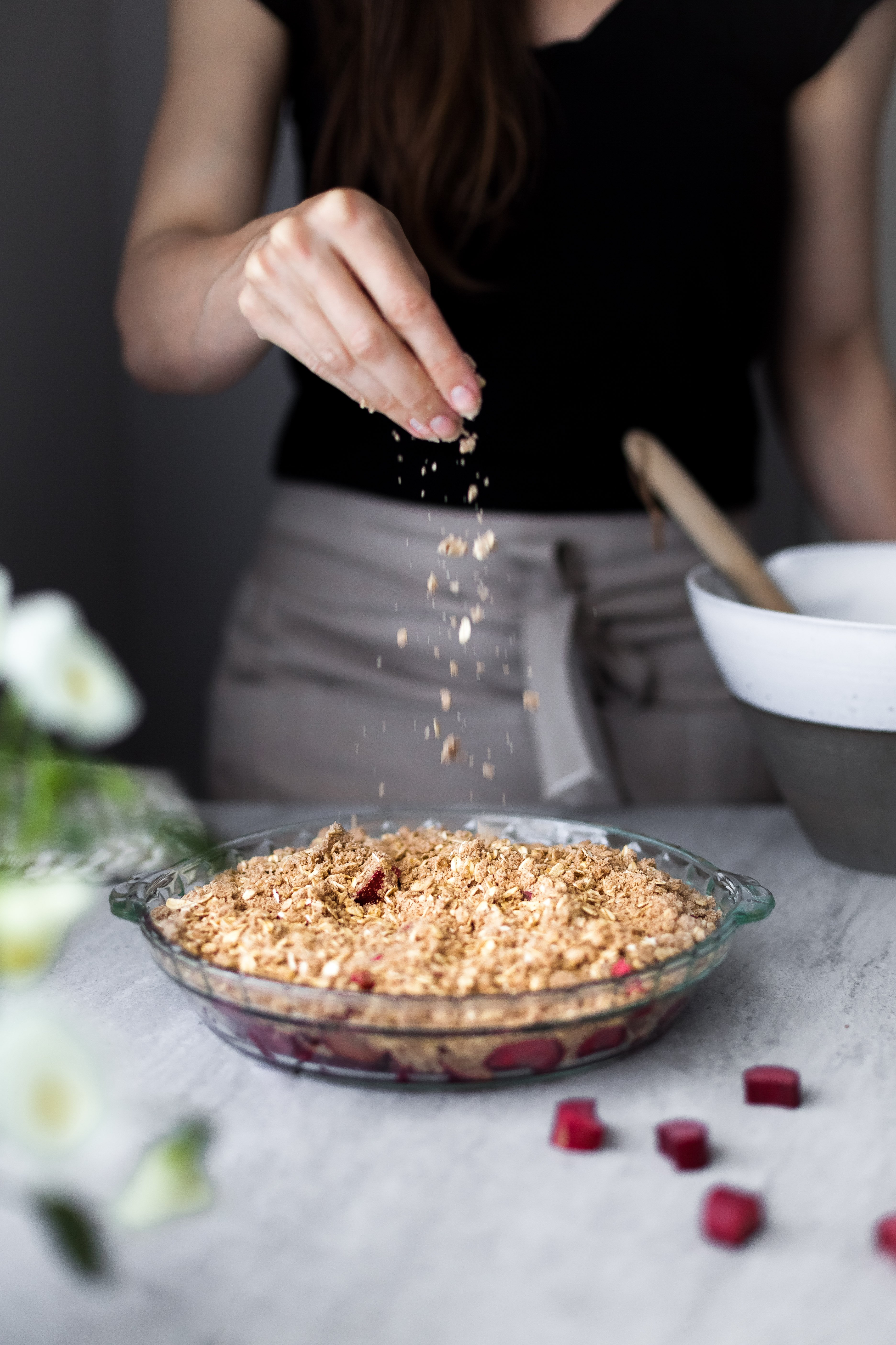 Rhubarb Oat Crumble- The Simple Green