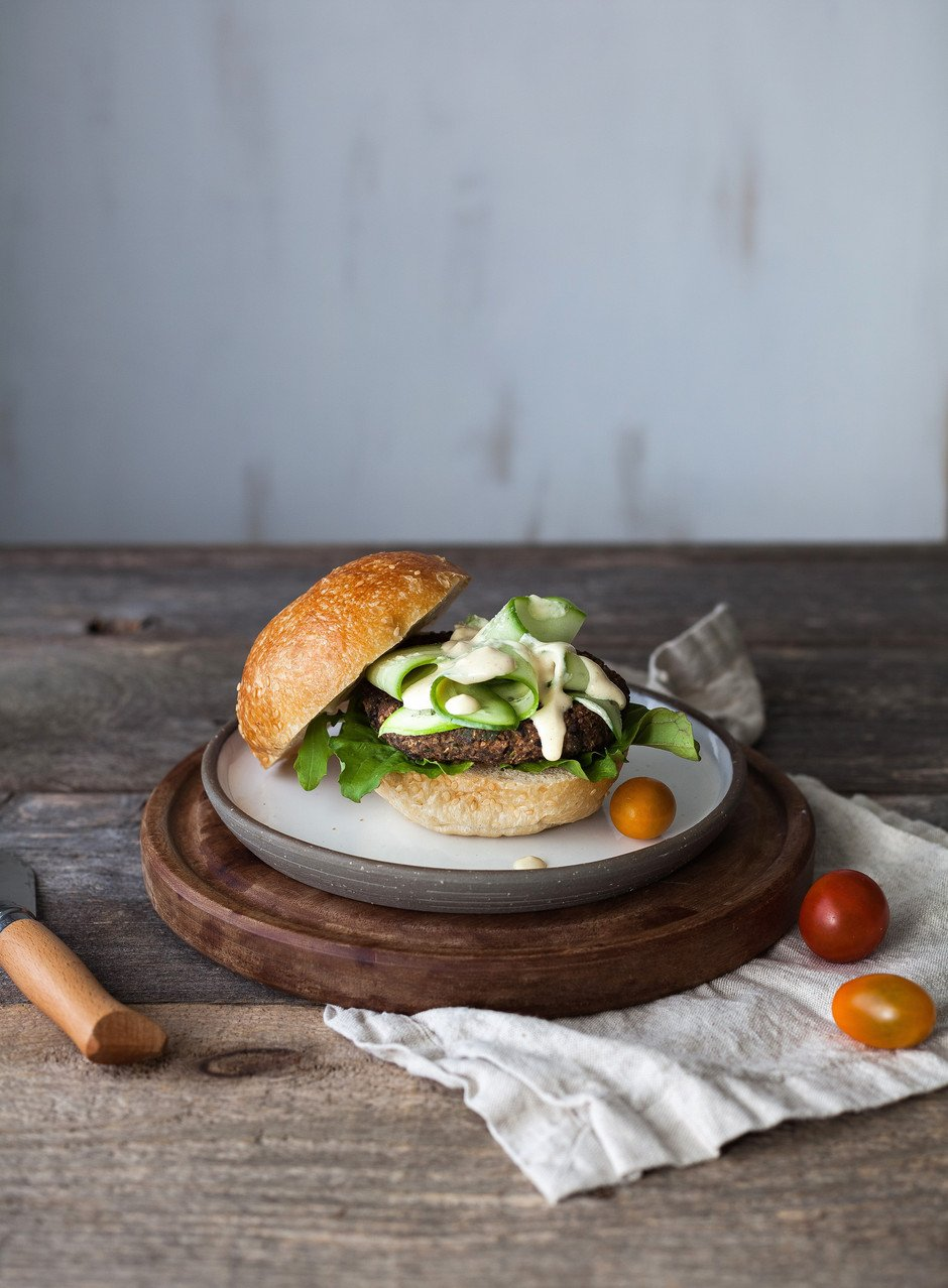 The Simple Green- Black bean Quinoa Burger