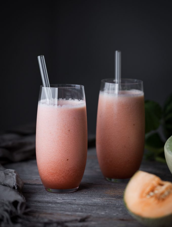 Honey Melon Rose Smoothie