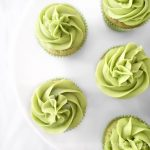 Matcha Tea Cupcakes photographed from overhead