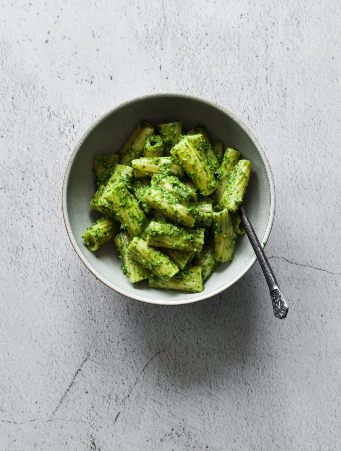 Rigatoni w Parsley Walnut Pesto [vegan]