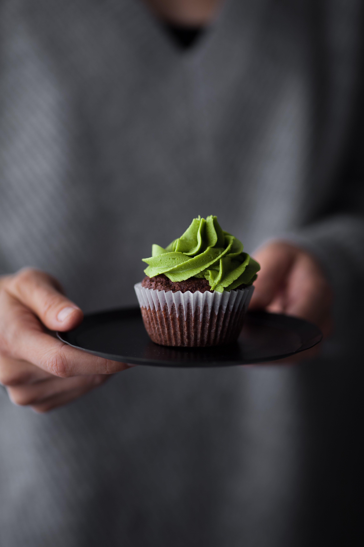 Vegan Chocolate Matcha Cupcakes