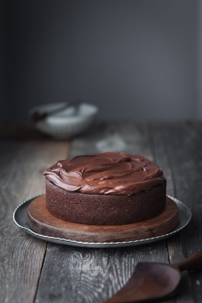 Double Chocolate Beetroot Cake head on shot.