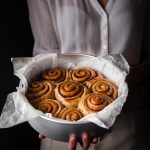 Vegan Cinnamon Rolls head on shot